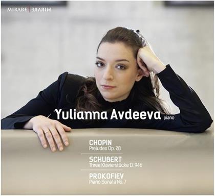 Frédéric Chopin (1810-1849), Franz Schubert (1797-1828), Serge Prokofieff (1891-1953) & Yulianna Avdeeva - Preludes Op. 28 / Sonate No. 7 / Klavierstuecke (2 CDs)