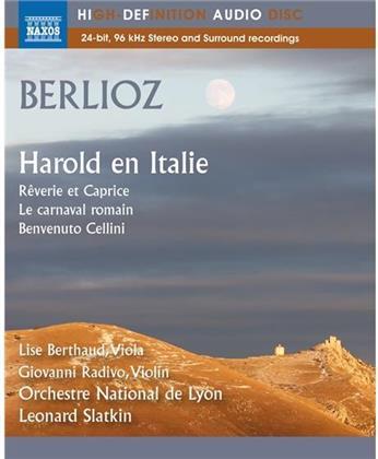 Héctor Berlioz (1803 - 1869), Leonard Slatkin, Giovanni Radivo, Lise Berthaud & Orchestre National de Lyon - Harold en Italie, Reverie et Caprice, Carnaval romain, Benvenuto Cellini - Bluray Audio