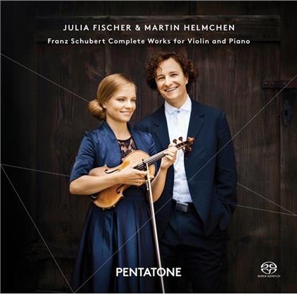 Franz Schubert (1797-1828), Julia Fischer & Martin Helmchen - Complete Works For Violin And Piano (2 CDs)