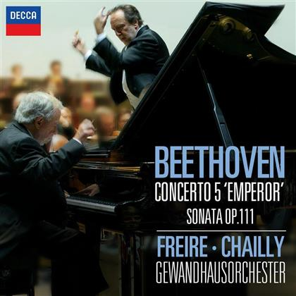 Ludwig van Beethoven (1770-1827), Riccardo Chailly, Nelson Freire & Gewandhausorchester Leipzig - Piano Concerto No.5 / Sonata Op.111