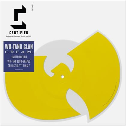 """Wu-Tang Clan - C.R.E.A.M./Da Mystery Of Shadowboxing - Shaped Picture 7 Inch - RSD (Colored, 7"""" Single)"""