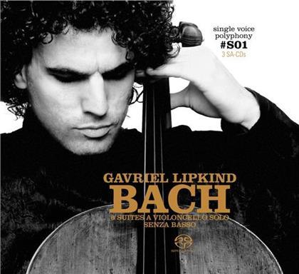 Johann Sebastian Bach (1685-1750) & Gavriel Lipkind - 6 Cellosuiten (Limited Edition, 3 SACDs)