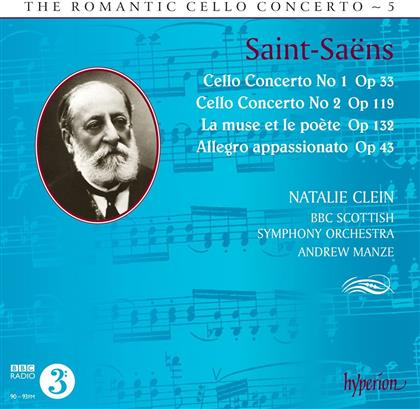 Camille Saint-Saëns (1835-1921), Andrew Manze, Antje Weithaas, Natalie Clein & BBC Scottish Symphony Ochestra - Romantic Cello Concerto 5