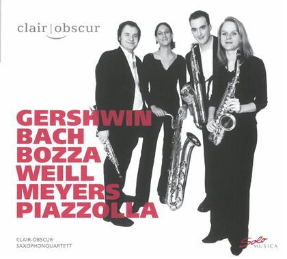 Clair-Obscur Saxophonquartett, Johann Sebastian Bach (1685-1750), Eugene Bozza, Kurt Weill (1900-1950), Astor Piazzolla (1921-1992), … - Saxophonquartett