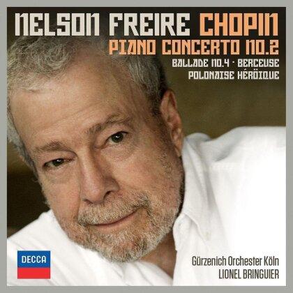 Frédéric Chopin (1810-1849) & Nelson Freire - Piano Concerto No. 2, Ballade no. 4, Berceuse, Polonaise Heroique