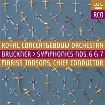 Anton Bruckner (1824-1896), Mariss Jansons & Royal Concertgebouw Orchestra - Symphonies No. 6 & 7 (2 Hybrid SACDs)