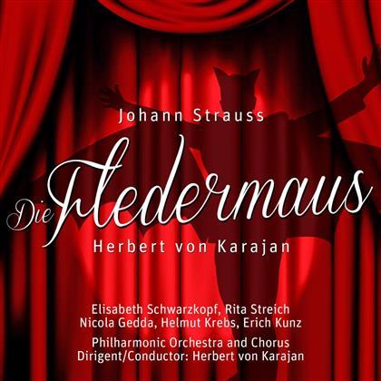 Elisabeth Schwarzkopf, Rita Streich, Nicolai Gedda, Helmuth Krebs, Erich Kunz, … - Die Fledermaus (2 CDs)