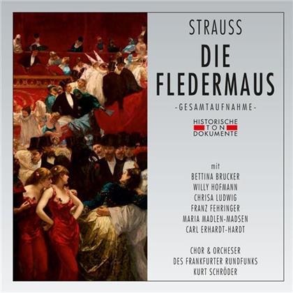 Chor und Orchester des Frankfurter Rundfunks, Johann Strauss, Kurt Schröder, Bettina Brucker, Christa Ludwig, … - Die Fledermaus - Frankfurt 1950 (2 CDs)