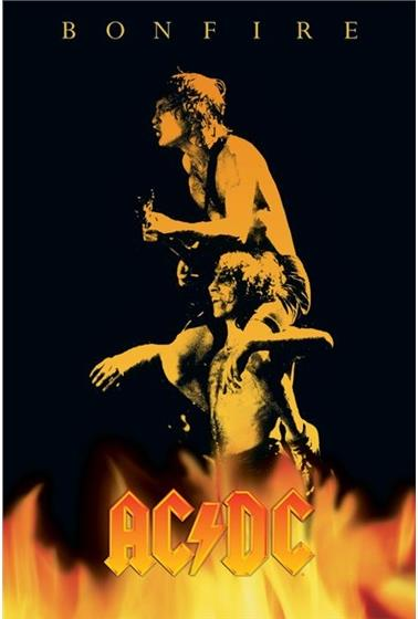 AC/DC - Bonfire - Sticker, Temporary Tattoo, Keychain/Bottle Opener And Guitar Pick (5 CDs)