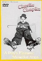Charlie Chaplin - A day's pleasure / Shoulder arms (s/w)