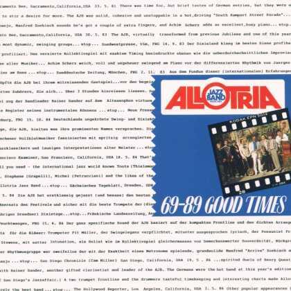 Allotria Jazz Band - Good Times, 69-89