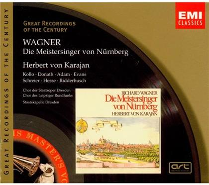 Helen Donath, Theo Adam, Richard Wagner (1813-1883), Herbert von Karajan & René Kollo - Meistersinger Von Nürnberg (4 CDs)