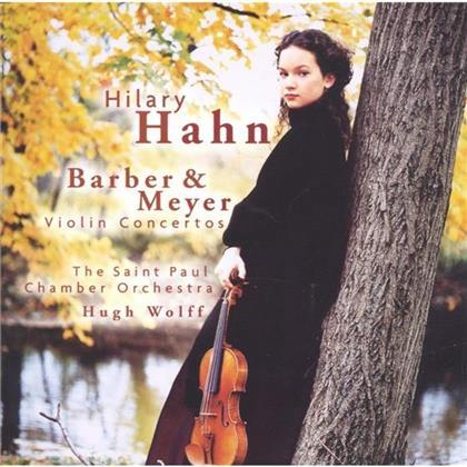 Hilary Hahn & Meyer E. / Barber S. - Violinkonzerte