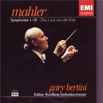 """Gary Bertini & Gustav Mahler (1860-1911) - Sinfonie 1-9 + 10 """"Adagio"""" (11 CDs)"""