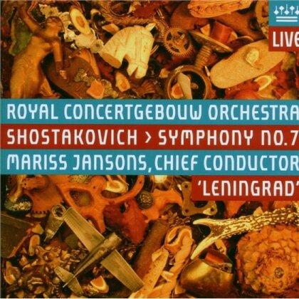 Royal Concertgebouw Orchestra Amsterdam, Dimitri Schostakowitsch (1906-1975) & Mariss Jansons - Sinfonie 7 Leningrad (Hybrid SACD)
