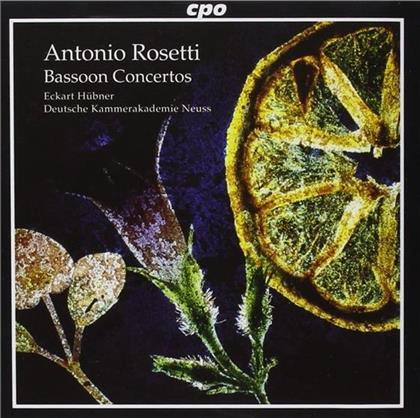 Eckart Huebner (Fagott & Leitung) & Francesco Antonio Rosetti (1750-1792) - Konzert Fuer Fagott C69, C73,