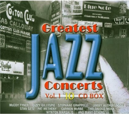 The Greatest Jazz Concerts - Vol. 1 (10 CDs)