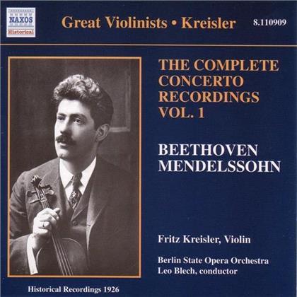 Kreisler & Beethoven/Mendelssoh - Concerto Rec.Vol.1