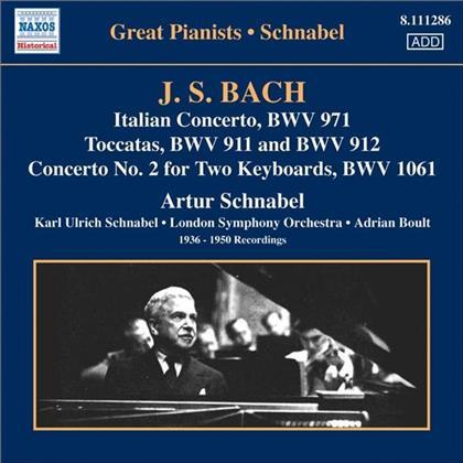 Artur Schnabel (1882-1951) & Johann Sebastian Bach (1685-1750) - Ital.Konz./Chrom.Fant+Fuge
