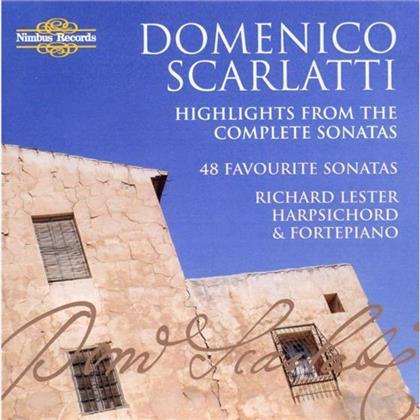 Lester Richard, Cembalo, Hammerklavier & Domenico Scarlatti (1685-1757) - 48 Favourite Sonatas (2 CDs)