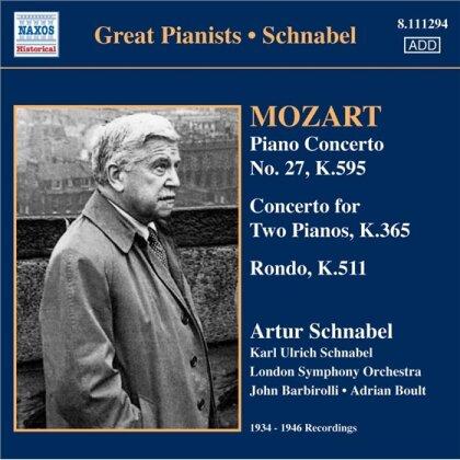 Artur Schnabel (1882-1951) & Wolfgang Amadeus Mozart (1756-1791) - Klavierkonz.Vol.1