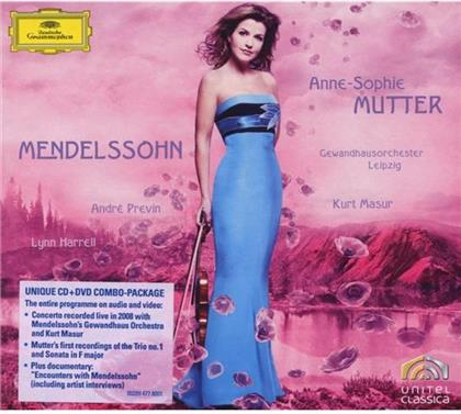 Felix Mendelssohn-Bartholdy (1809-1847), André Previn (*1929), Anne-Sophie Mutter, Lynn Harrell & Gewandhausorchester Leipzig - Violin Concerto Op.64, Trio Digi