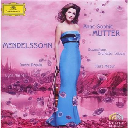 Felix Mendelssohn-Bartholdy (1809-1847), André Previn (*1929), Anne-Sophie Mutter, Lynn Harrell & Gewandhausorchester Leipzig - Violin Concerto Op.64/Piano Trio (2 CDs)