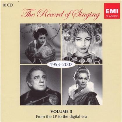 Record Of Singing 1953-2007 & --- - Record Of Singing 1953-2007 (10 CDs)
