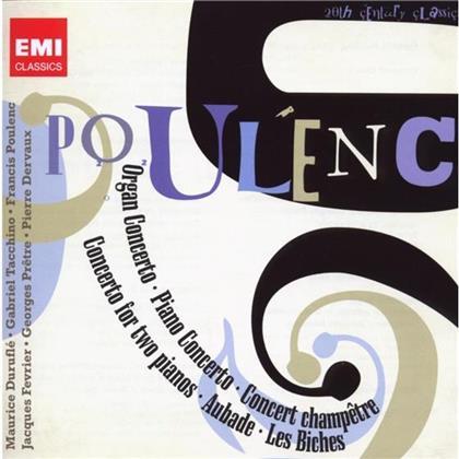 Pretre Georges/Poulenc/Février/Tacchino & Francis Poulenc (1899-1963) - Concertos/Aubade/Les Biches (Remastered, 2 CDs)