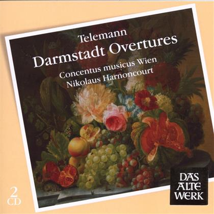 Georg Philipp Telemann (1681-1767), Nikolaus Harnoncourt & Concentus Musicus Wien - Darmstadt Ouvertures (Suite) (Remastered, 2 CDs)