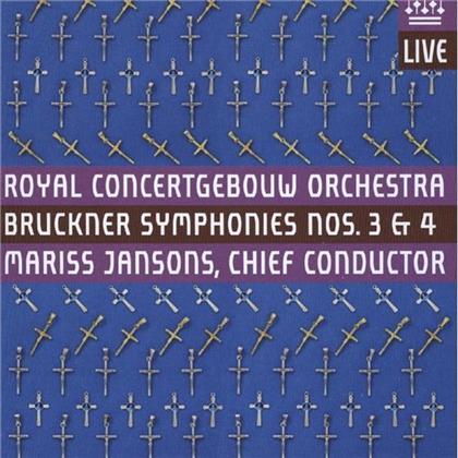 Jansons Mariss / Royal Concertgebouw Orc & Anton Bruckner (1824-1896) - Sinfonie Nr3, Nr4 Romantische (2 Hybrid SACDs)