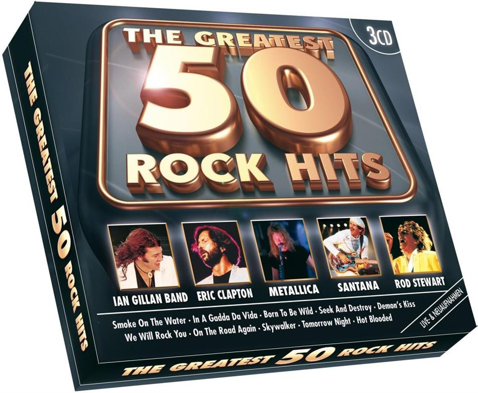 Greatest 50 Rock Hits - Various - Euro Trend (3 CDs)