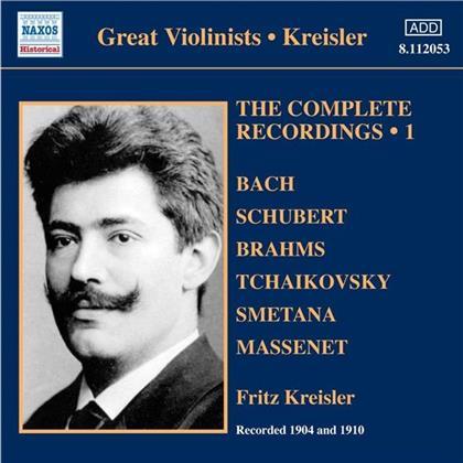 Georg Kreisler & Bach/Tschaikowsky/Schubert/Kreisler U.A. - Kreisler Solo Recordings Vol. 1