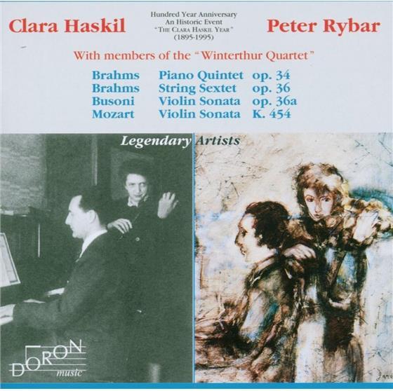 Haskil Clara/Rybar Peter & Brahms/Busoni/Mozart - Piano Quintet,String Sextet,Vi