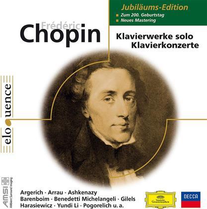 Frédéric Chopin (1810-1849), Martha Argerich, Claudio Arrau, Daniel Barenboim & Ivo Pogorelich - Jubiläumsedition 200. Geburtstag (10 CDs)