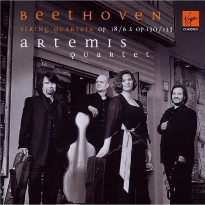 Artemis Quartett & Ludwig van Beethoven (1770-1827) - Streichquartette Nr. 6 op.18, Nr. 13 op.130, Grosse Fuge op.133