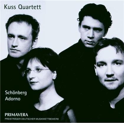 Kuss Quartet & Schönberg Arnold / Adorno Theodor W. - Streichquartett 1 / Stücke Für Str.Qu.