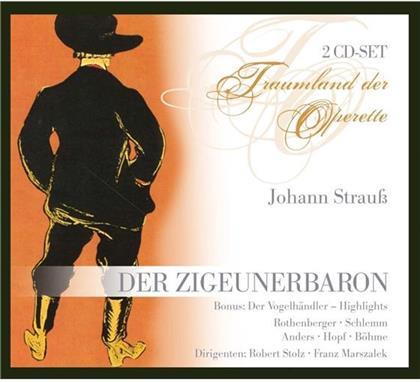 Anneliese Rothenberger, Schlemm, Kurt Böhme, Hans Hopf, Johann Strauss (II), … - Zigeunerbaron, Der - Bonus Vogelhändler Highlights (2 CDs)