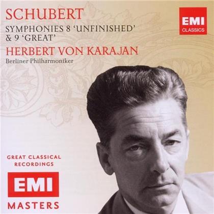 Franz Schubert (1797-1828), Herbert von Karajan & Berliner Philharmoniker - Sinfonien 8 & 9