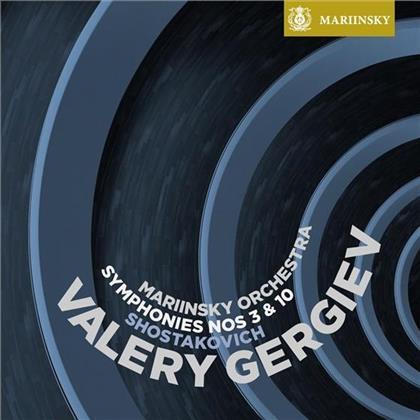 Gergiev Valery / Mariinsky Orchestra & Dimitri Schostakowitsch (1906-1975) - Sinfonien 3 & 10 (SACD)