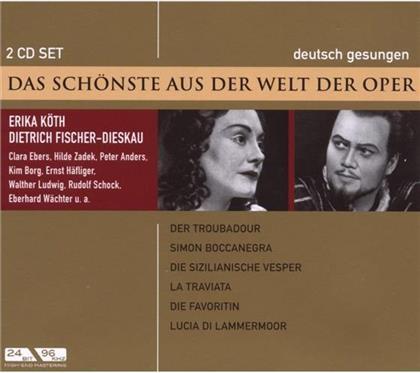 Fischer-Dieskau Dietrich / Koeth /Anders & --- - Schoenste Aus Der Welt Der Oper (2 CDs)