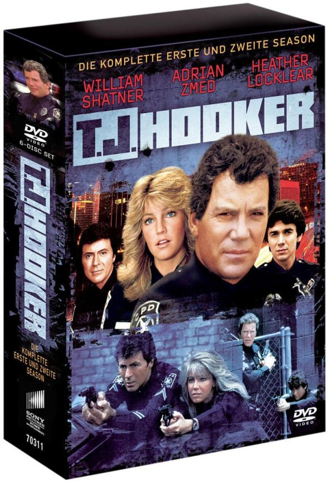 T. J. Hooker - Season 1 & 2 (6 DVDs)