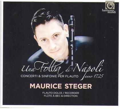 Maurice Steger & Leo / Barbella / Fiorenza / Mancini / + - Una Follia Di Napoli - Blockflöte (2 CDs)