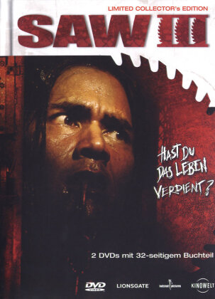 Saw 3 (2006) (Collector's Edition, Edizione Limitata, Mediabook, Uncut, 2 DVD)