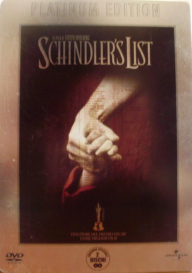 Schindler's List (1993) (n/b, Platinum Edition, Steelbook, 2 DVD)