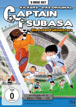 Captain Tsubasa - Vol. 1 / Episoden 1-30 (3 DVDs)