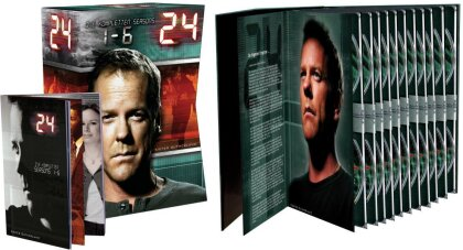 24 - Staffel 1-6 (Box, Limited Edition, 41 DVDs)