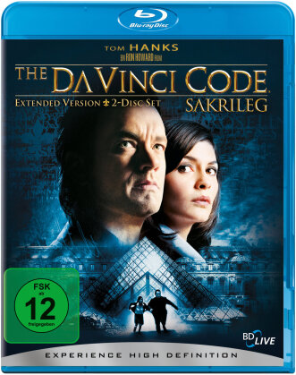 The Da Vinci Code (2006) (Extended Edition, 2 Blu-rays)