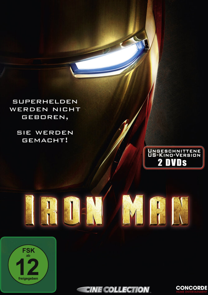 Iron Man - (Ungeschnittene US-Kinoversion) (2008) (Special Edition, 2 DVDs)