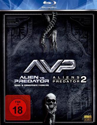 AVP - Alien vs. Predator / Aliens vs. Predator 2 (Extended Edition, Kinoversion, 2 Blu-rays)
